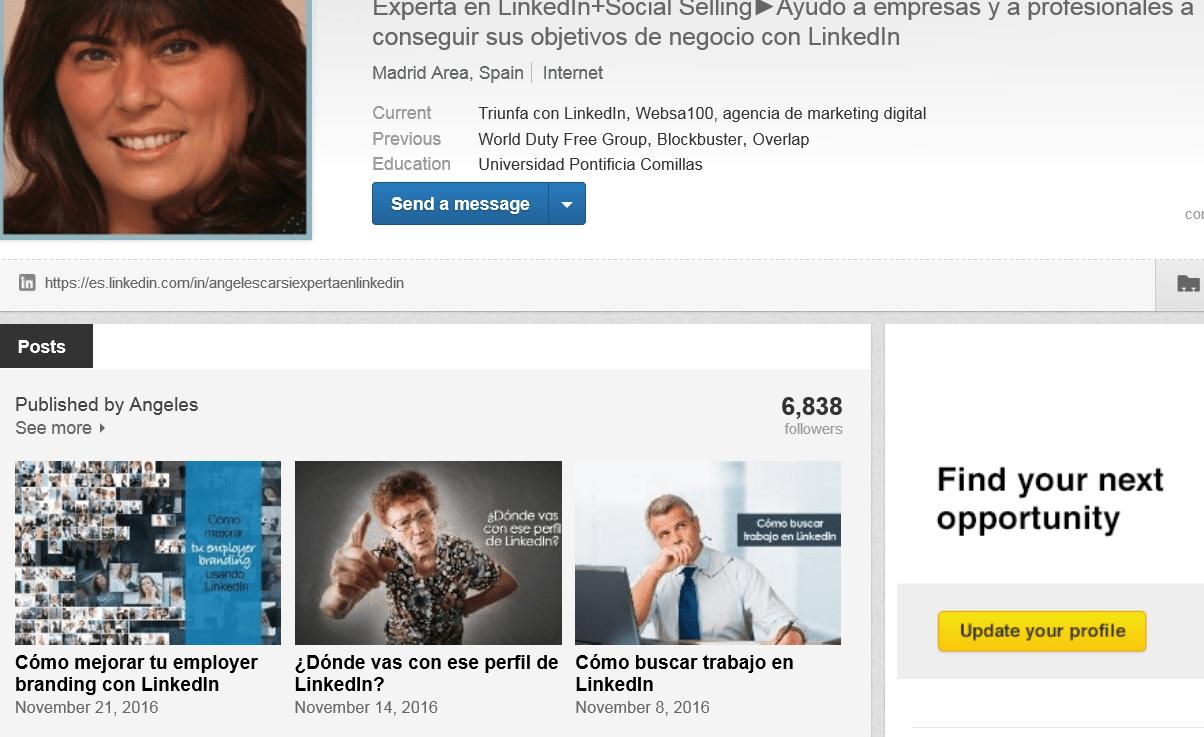 posts publicados en LinkedIn