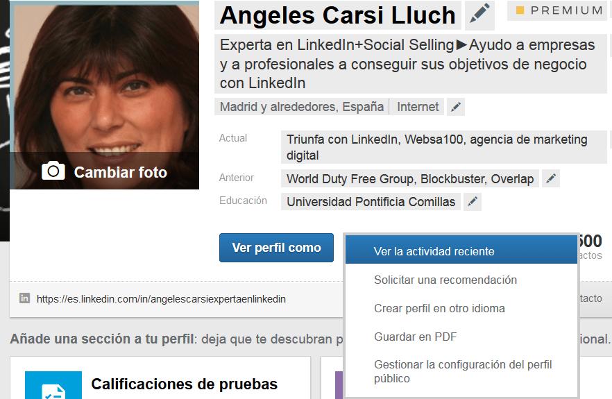 añadir idioma al perfil de Linkedin