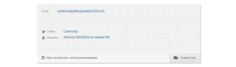 Ejemplo palabra clave perfiles linkedin