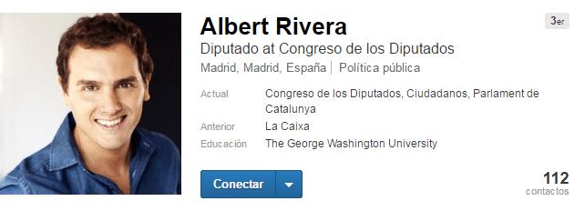 Albert Rivera político en LinkedIn