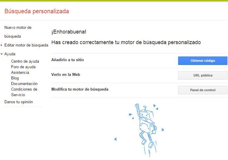Búsqueda personalizada en Google: Paso 2
