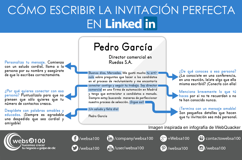 como hacer invitaciones perfectas en Linkedin