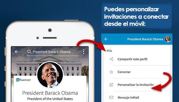 como hacer invitaciones a conectar en Linkedin desde el movil