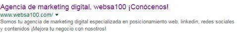 snippet websa100