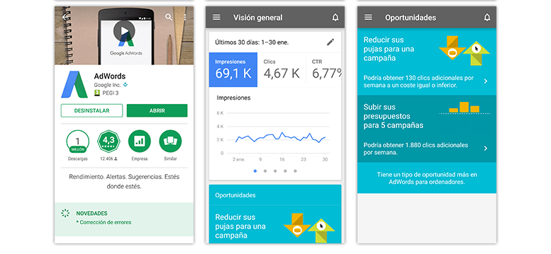 Apps para móviles: Google AdWords