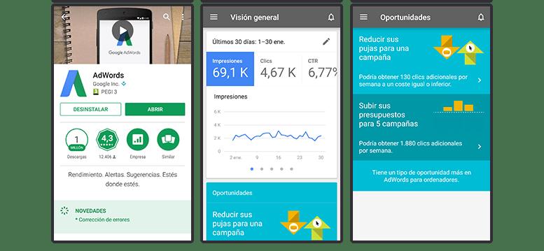 Apps para móviles: Google AdWords