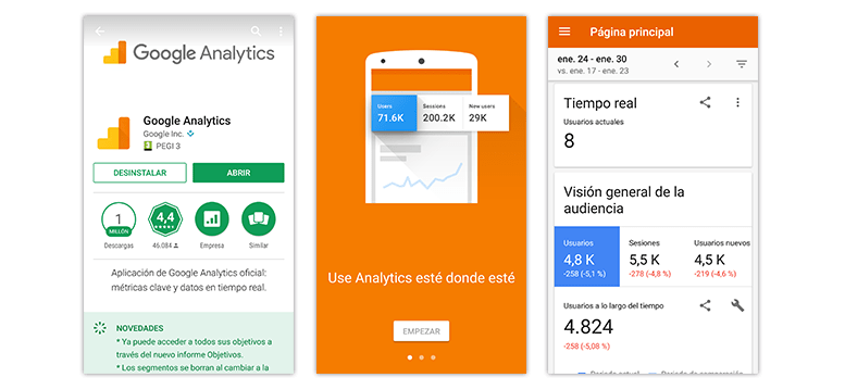 Apps para móviles: Google Analytics