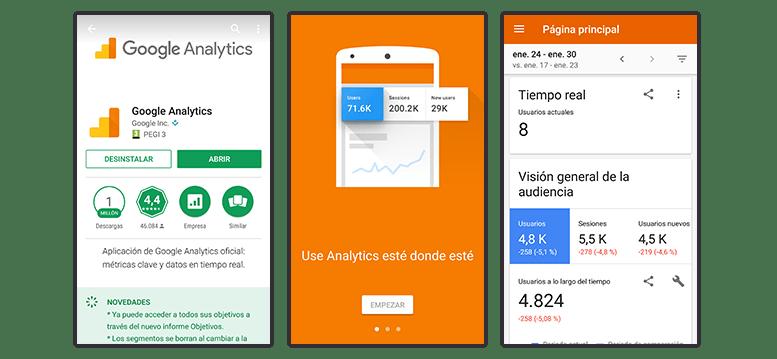Apps para móviles: Google Analytics