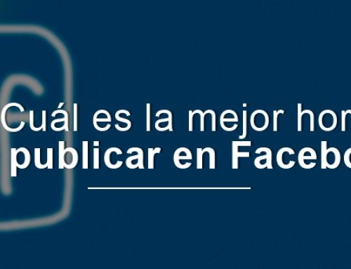 ¿Cuál es la mejor hora para publicar en Facebook?