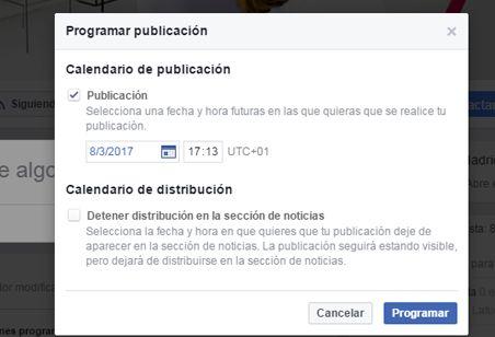 Ejemplo de programar en facebook