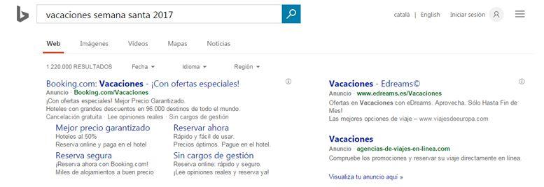 Publicidad en motores de búsqueda: Bing Ads