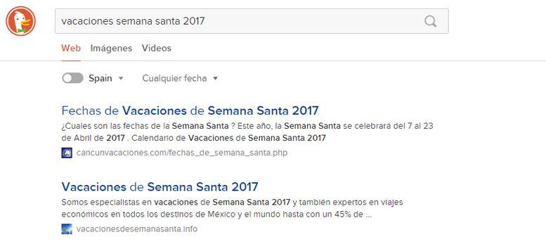 Publicidad en motores de búsqueda: DuckDuckGo