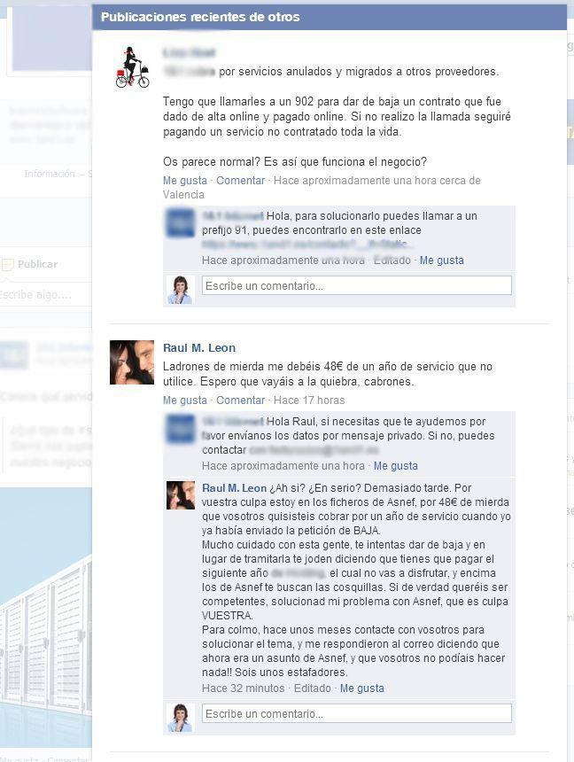 Problemas con los perfiles en Facebook