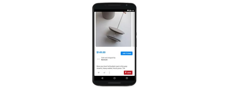 Comprar en Pinterest: ejemplo botón comprar
