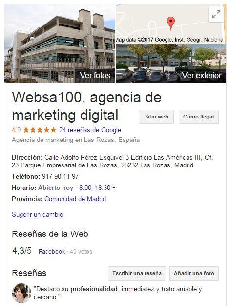 Posicionamiento en redes sociales: ejemplo Google+