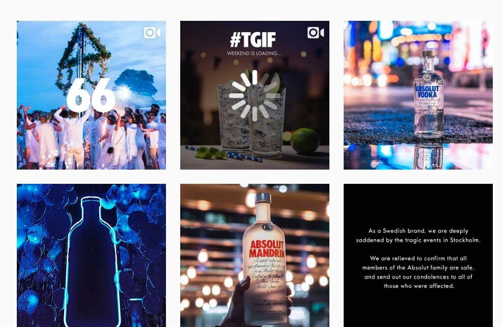 Usar Instagram: Absolut