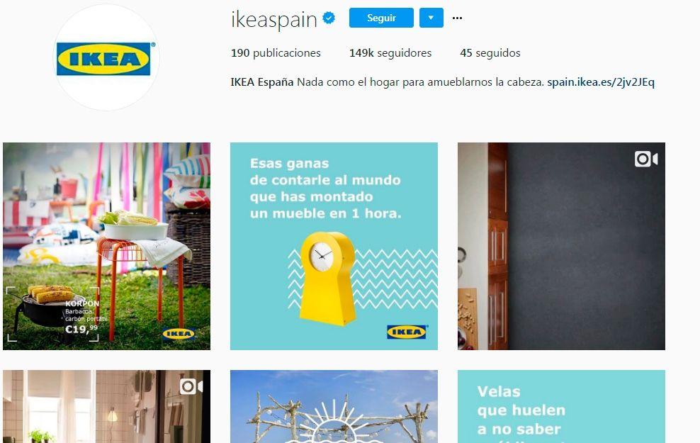 Usar instagram: Ikea