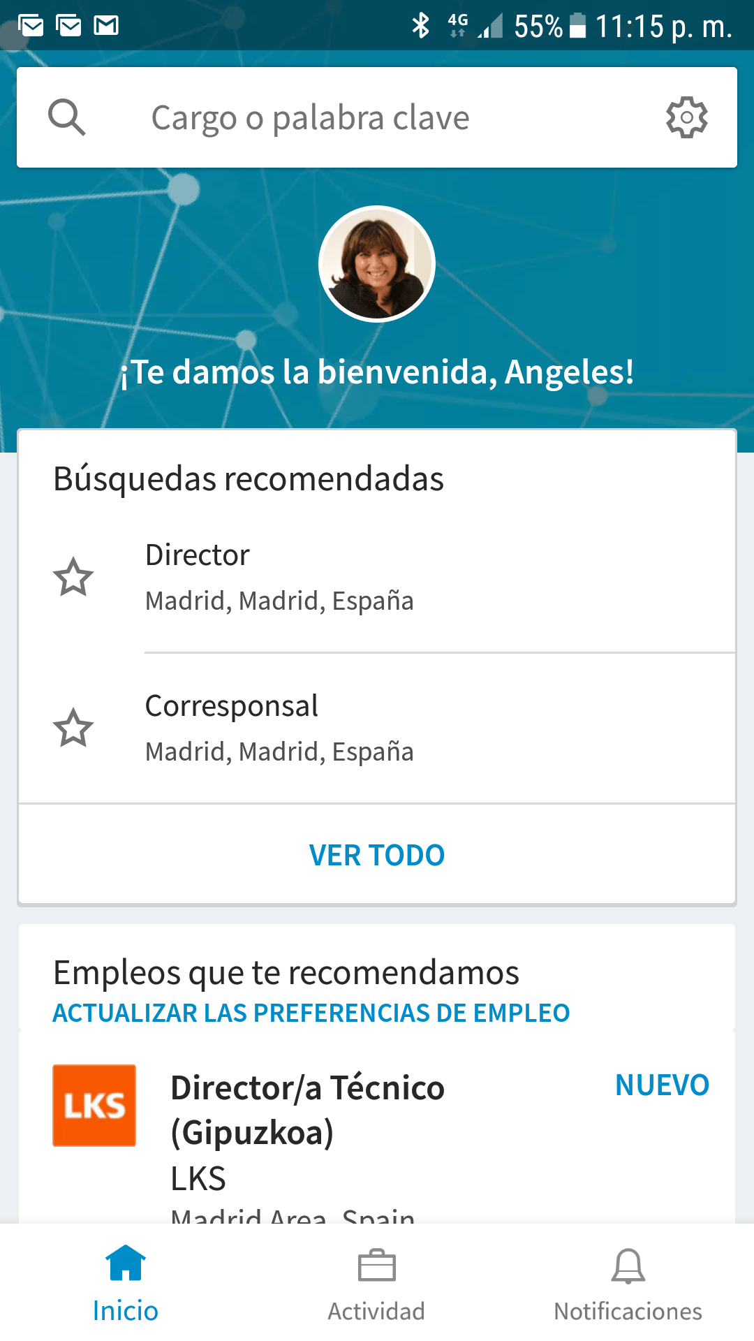 Home de LinkedIn Job Search