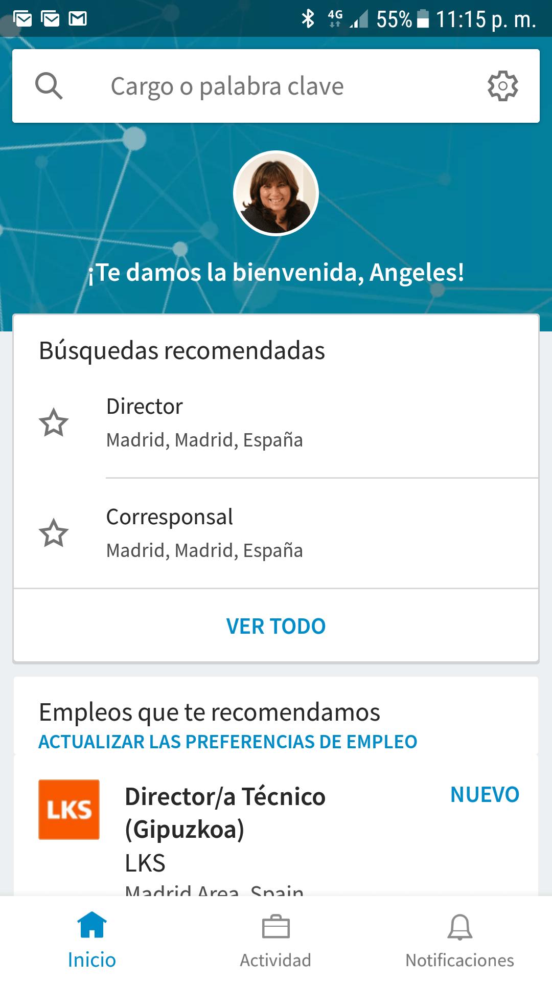Home de LinkedIn Job Search