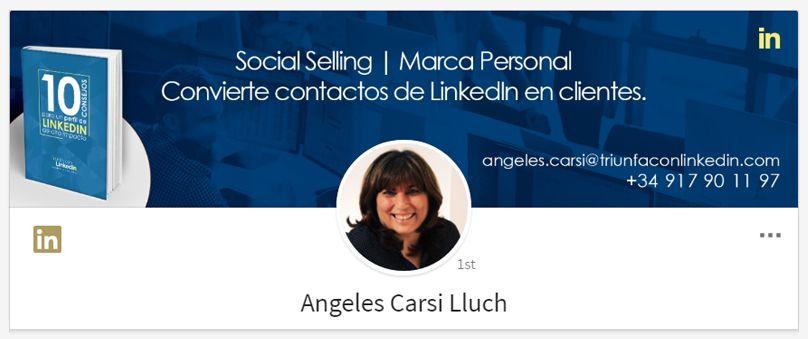 Ejemplo fondo de LinkedIn: Ángeles Carsi
