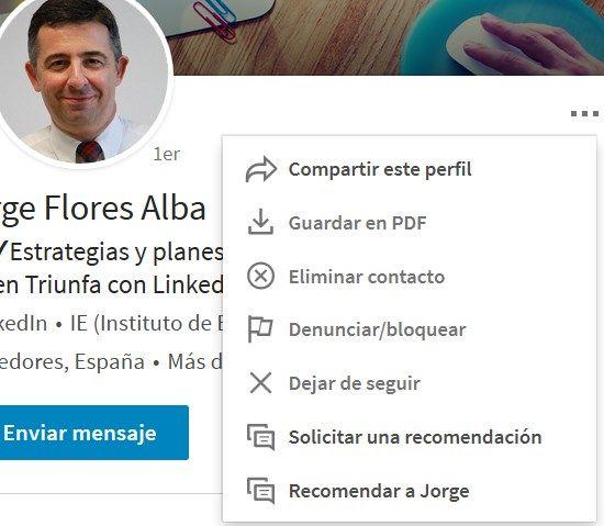 pedir recomendacion o recomendar en LinkedIn
