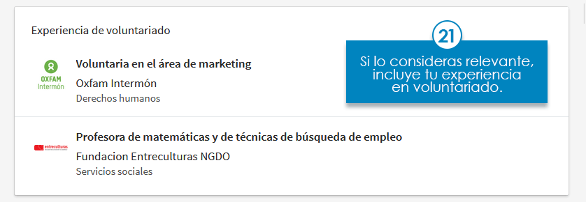 perfil linkedin voluntariado