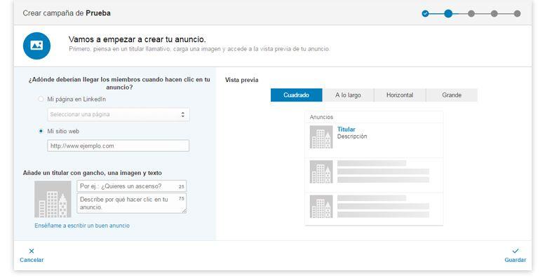Publicidad en LinkedIn | Administrador de campañas