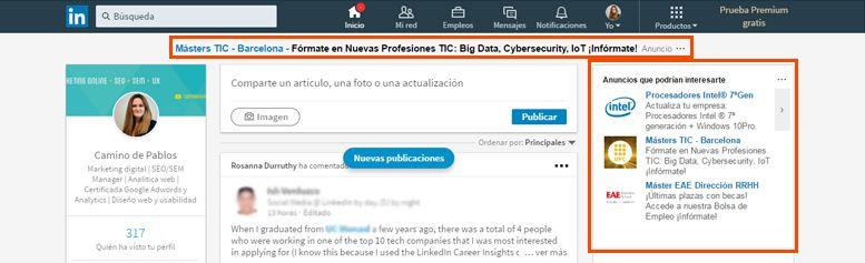 Publicidad en LinkedIn | Anuncios de texto