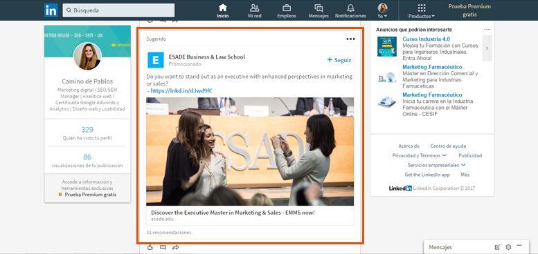 Publicidad en LinkedIn | Publicaciones promocionadas