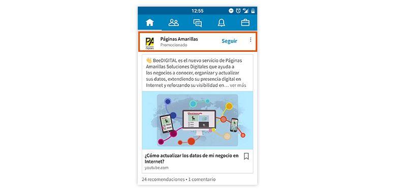 Publicidad en LinkedIn | Publicaciones promocionadas movil