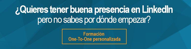 Formación One To One en LinkedIn