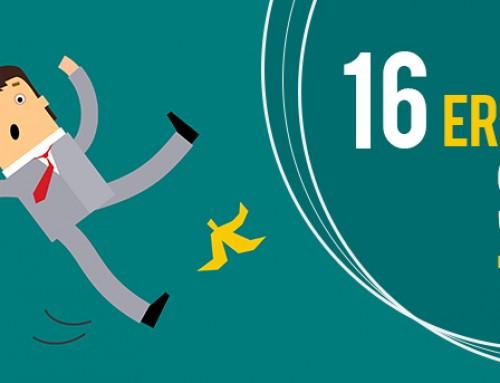 Estrategia de posicionamiento: Los 16 errores SEO más comunes