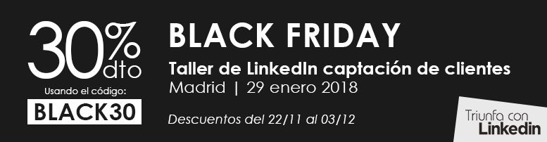 Black Friday en Triunfa con LinkedIn