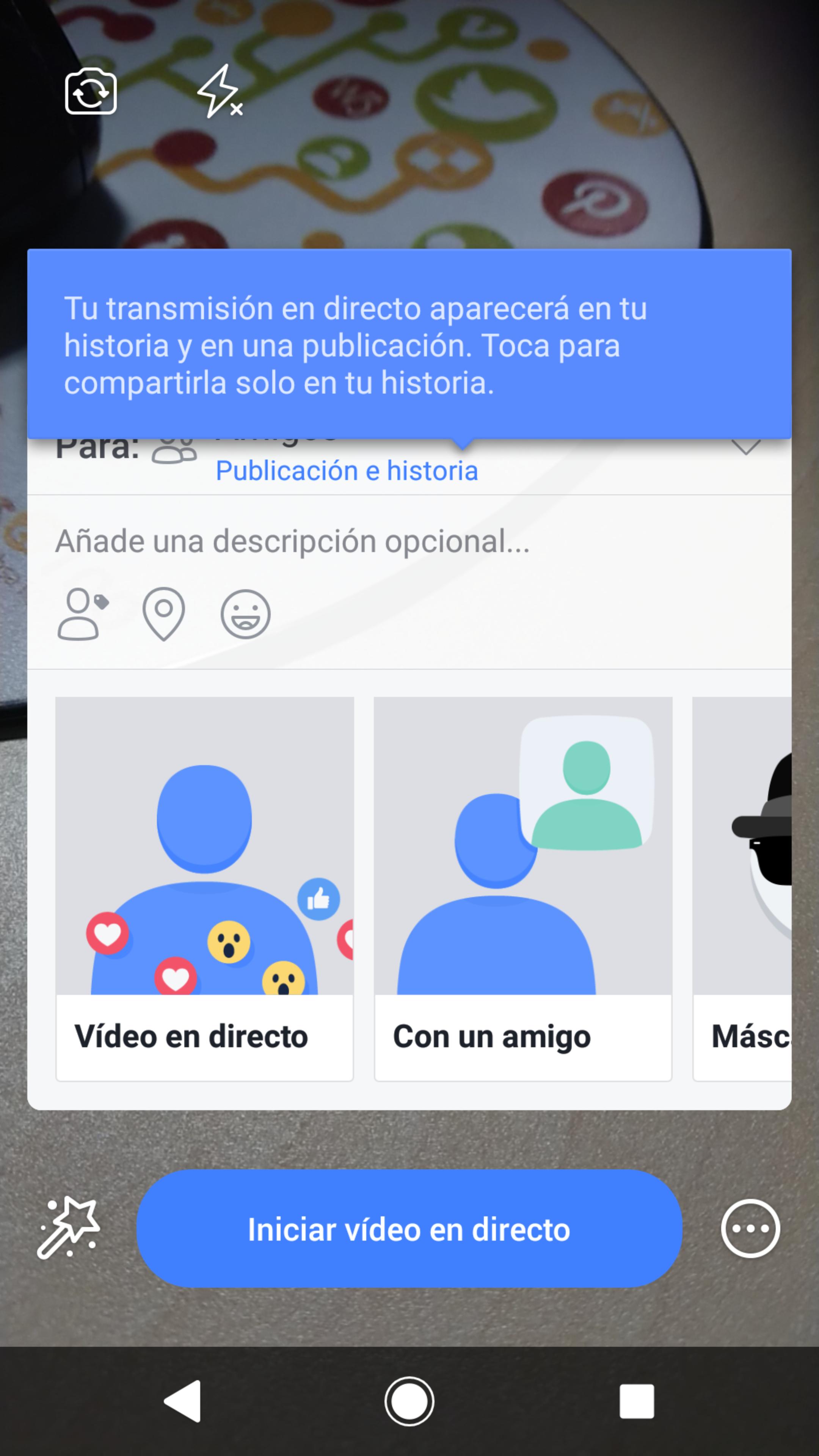 Novedades Facebook 2018: ejemplo