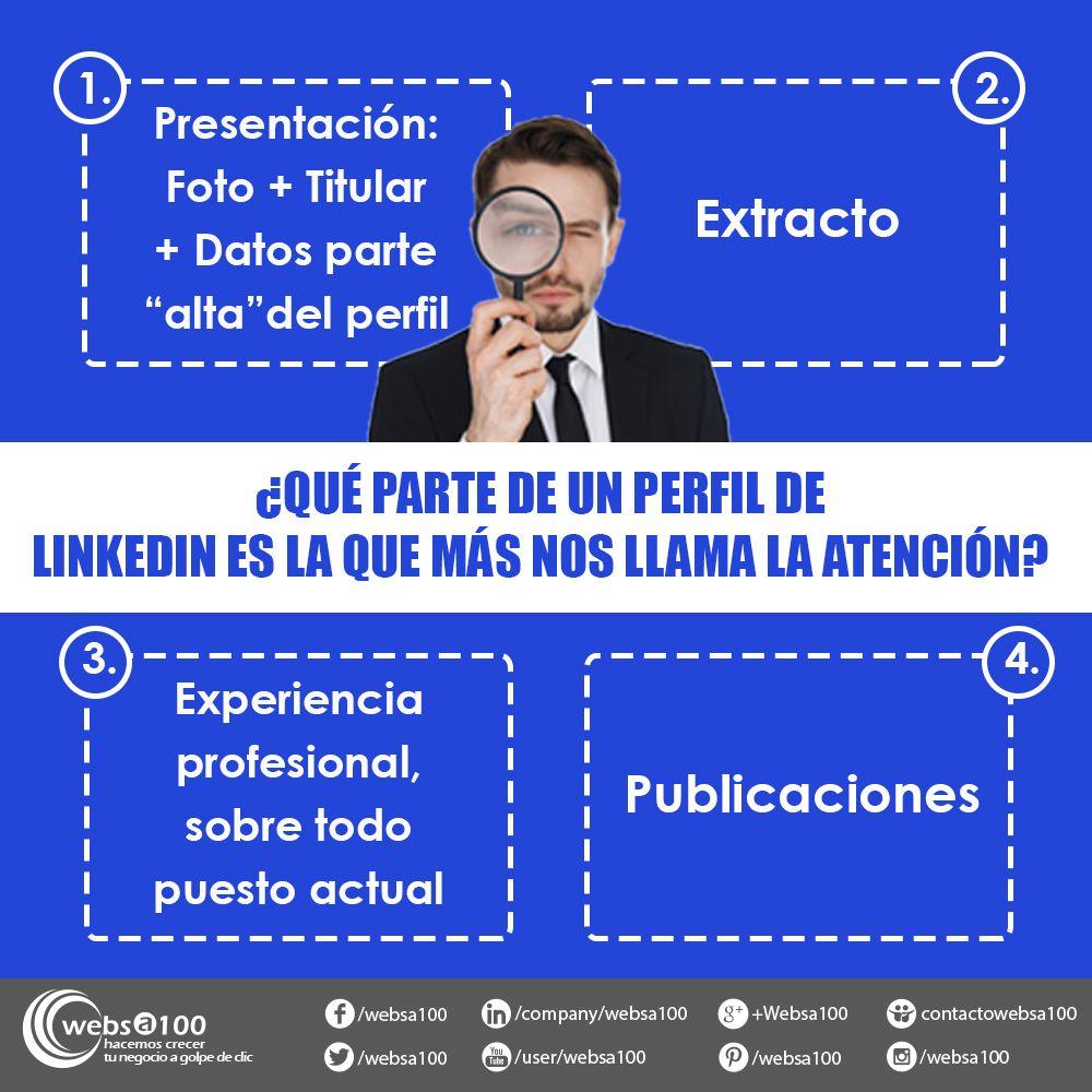 En que parte del perfil LinkedIn nos fijamos (infografia)