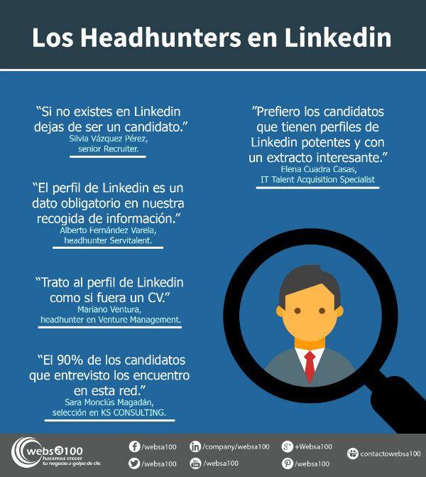 headhunters linkedin infografia