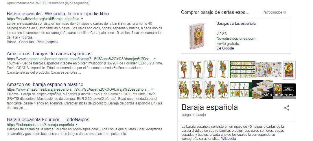 seo web inicial búsquedas google