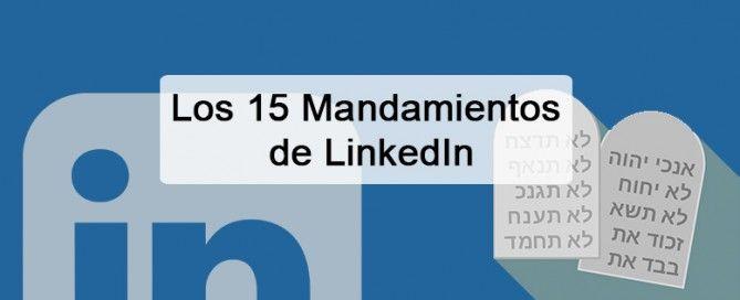 15 mandamientos linkedin