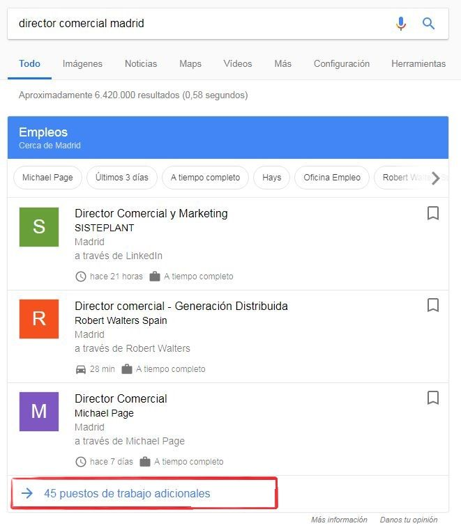 google empleos