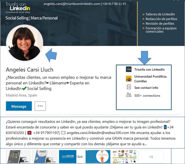 elementos del nuevo perfil linkedin