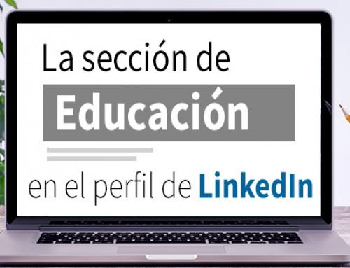 La sección de Educación en el perfil de LinkedIn