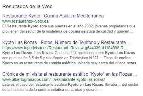 seo local resultados web