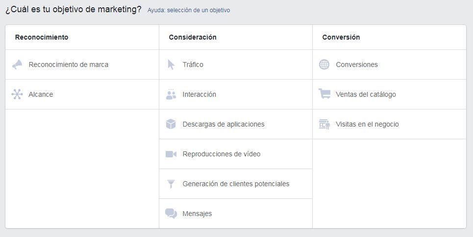 facebook ads campañas