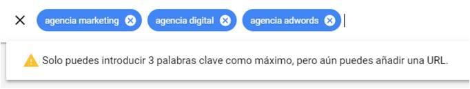 google ads palabras clave