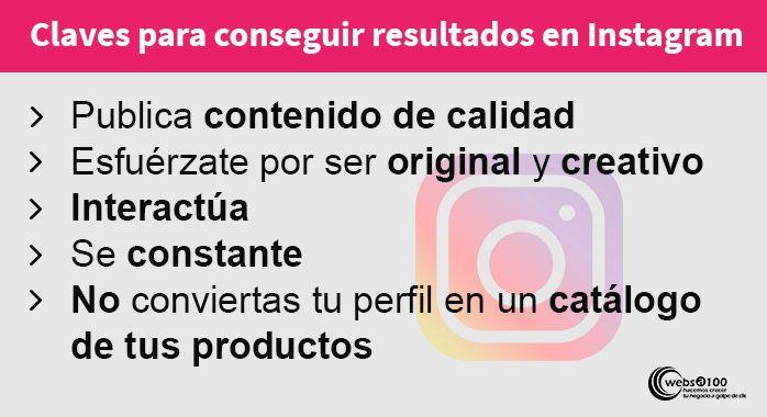 claves para conseguir resultados en instagram