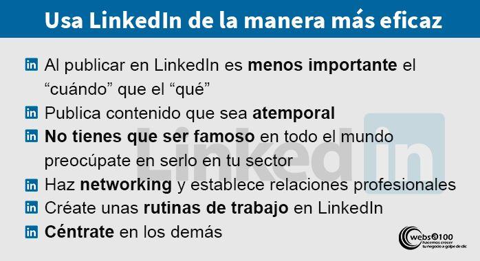 Como usar LinkedIn de la manera más eficaz - Infografía