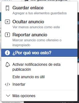 preferencias anuncios facebook
