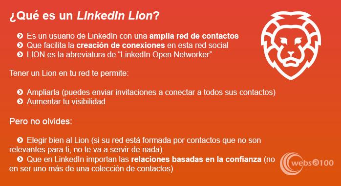LinkedIn Lion - Infografía