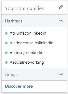LinkedIn hashtags - Your-communities - Discover more