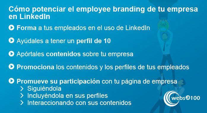 Cómo potenciar el employee branding de tu empresa en LinkedIn - Infografía